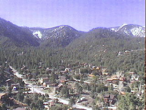 Pine Mountain Club, CA view from air