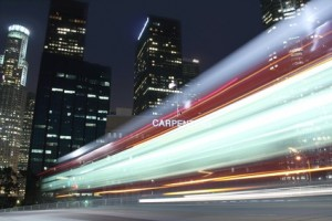 Follow through symbolized by traffic speed